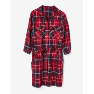 robe chemise à carreaux JENNYFER