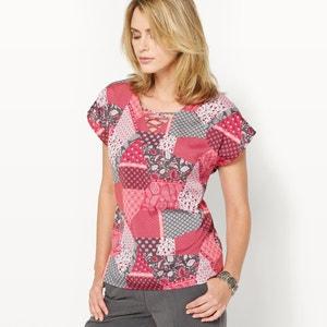 Bedrukte blouse, crêpe ANNE WEYBURN