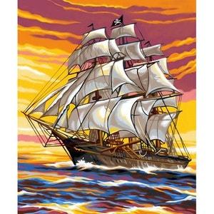 Peinture au numéro  Débutants : Le bateau pirate OZ INTERNATIONAL