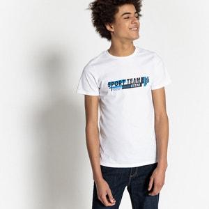T-shirt de gola redonda, 10-16 anos La Redoute Collections