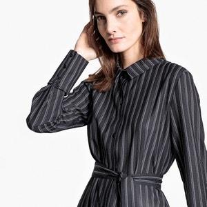 Robe chemise ceinturée, imprimée rayures La Redoute Collections
