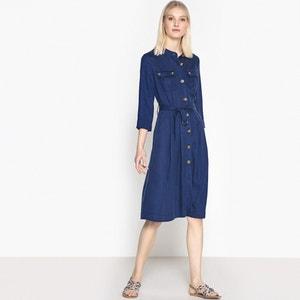 Sukienka szmizjerka zapinana z przodu La Redoute Collections
