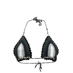 Maillot de bain Triangle Stardust Crochet Noir PILYQ