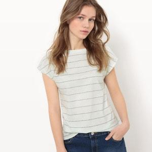 Camiseta a rayas, algodón orgánico R essentiel