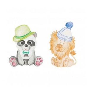 Stickers muraux enfant panda et lion XL Caselio CASELIO