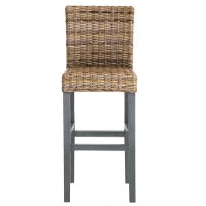 Chaise de bar en manguier et kubu, Lunja La Redoute Interieurs