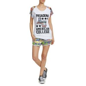 Tee Shirt Mc Passadena Ac Primy W American College Blanc AMERICAN COLLEGE