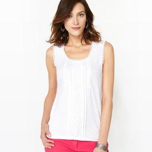 Haftowana koszulka na ramiączka ANNE WEYBURN