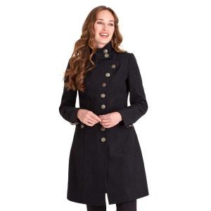 Manteau style militaire avec boutons excentrés pour femme JOE BROWNS