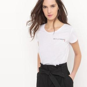 T-shirt com mensagem R essentiel