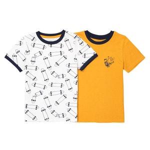 Lote de 2 camisetas 3-12 años La Redoute Collections