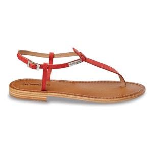 Narbuck Flat Heel Toe Post Leather Sandals LES TROPEZIENNES PAR M.BELARBI
