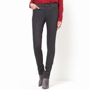 Pantalón slim 5 bolsillos, algodón stretch con revestimiento R essentiel