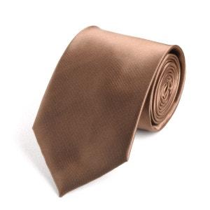 Cravate ton brun VIRTUOSE
