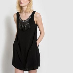 Sukienka bez rękawów ze zdobieniem SEE U SOON SEE U SOON