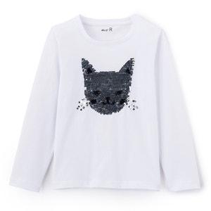Bedrukt T-shirt met ronde hals en lange mouwen La Redoute Collections
