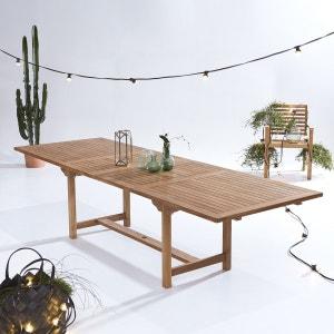 Table d'extérieur rectangulaire en bois de teck 200 Capri TIKAMOON