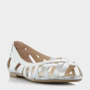 Sandales plates Huarache peep toe tressées - HARLO HEAD OVER HEELS BY DUNE