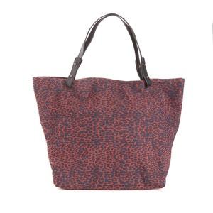 Clea Leopard Printed Canvas Shopper PETITE MENDIGOTE