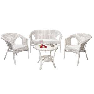 salon dintrieur en osier chris blanc rotin design rotin design - Salon Rotin Pour Veranda