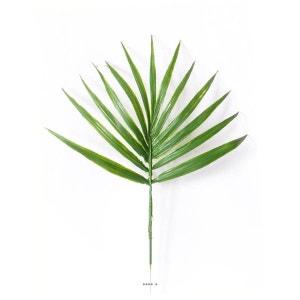Feuille palmier Chamaerops artificielle H 44 cm D 32 cm plastique ARTIFICIELLES