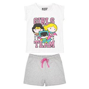 Pijama con short 4-10 años DC COMICS