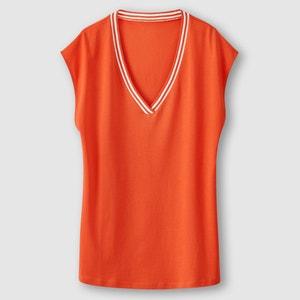 T-shirt com decote em V R essentiel