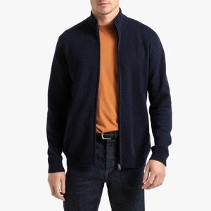 Vest met rits, in lamswol, Philippe