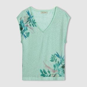 T-shirt Swimming Blossom, lin, imprimé FREEMAN T. PORTER