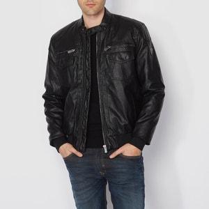 Faux Leather Bomber Jacket KAPORAL 5