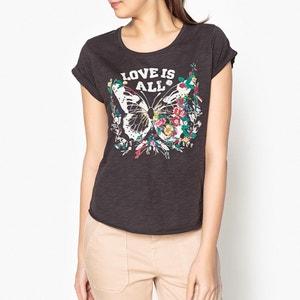 Bedrucktes T-Shirt TOVA PAPILLON, Zierperlen und Stickerei LEON and HARPER