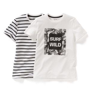 Camiseta estampada (lote de 2) 10-16 años R édition