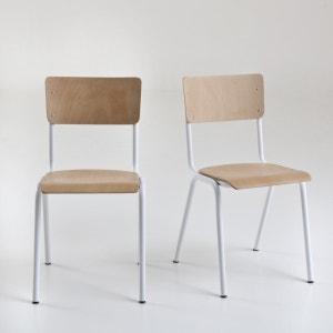 Chaises empilables style écolier, Hiba (lot de 2) La Redoute Interieurs