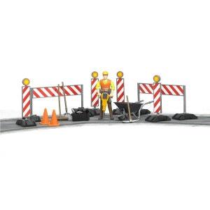 Figurine ouvrier et accessoires de chantier BRUDER