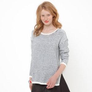 Camisola-túnica em malha bicolor La Redoute Collections