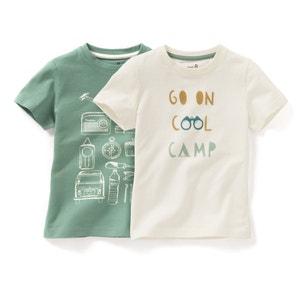 Комплект из 2 футболок, 3-12 лет La Redoute Collections