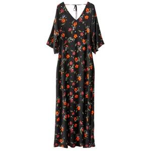Lange jurk met 3/4 mouwen R studio