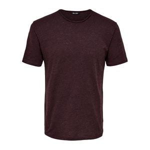 Camiseta lisa, cuello redondo, manga corta ONLY & SONS