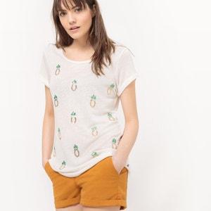 T-shirt com estampado ananás, mangas curtas LE TEMPS DES CERISES