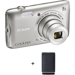 Appareil photo compact NIKON A300 silver + Etui NIKON