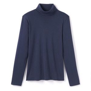 Tee shirt col roulé uni, manches longues La Redoute Collections