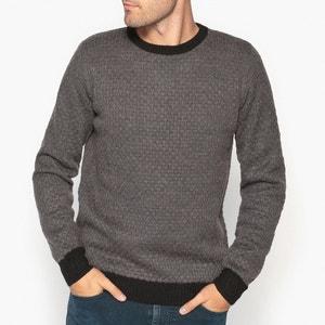 Пуловер с круглым вырезом из оригинального трикотажа La Redoute Collections