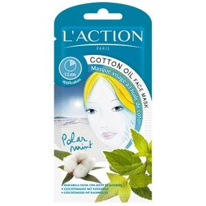 Masque huile de coton - Détoxifiant & rafraîchissant - Tous types de peaux - 12 g L'ACTION PARIS