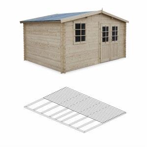 Abri de jardin en bois avec plancher | La Redoute
