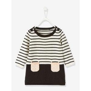 Robe tricot rayée bébé VERTBAUDET