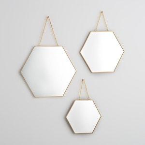Goudkleurige hexagonale spiegels, NÉO (set van 3) La Redoute Interieurs