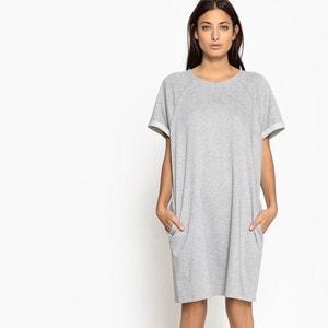 Kleid mit kurzen Ärmeln und gerader Schnittform, unifarben VERO MODA