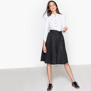 Robe chemise bicolore, ceinturée, coton La Redoute Collections
