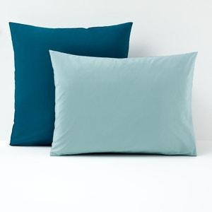 Taie d'oreiller bicolore, percale coton La Redoute Interieurs
