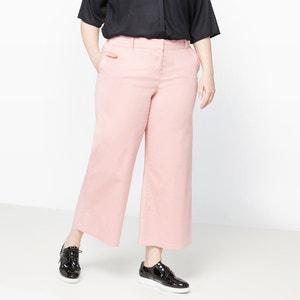 Wide Leg Cropped Cotton Trousers CASTALUNA